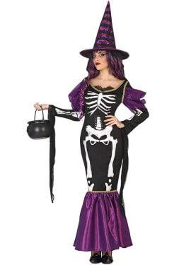 Disfraz de Bruja Esqueleto para mujer
