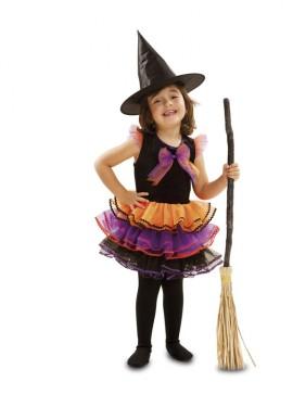 Disfraz de Bruja Fantasía para bebé y niñas para Halloween