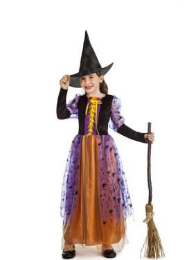 Disfraz de Bruja Fantasía para niña