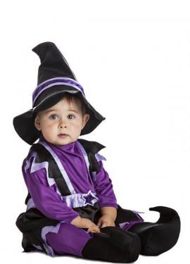 Disfraz de Bruja lila para bebé