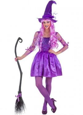 Costume da Strega lilla per donna