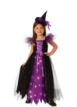 Disfraz de Bruja Madrina con Luz para niña