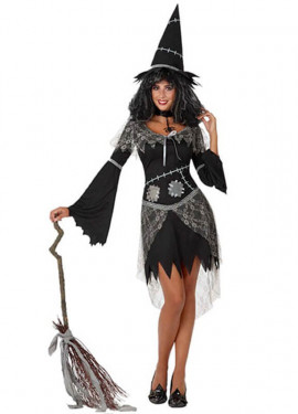 Disfraz de Bruja negro para mujer