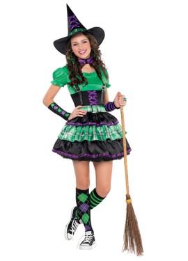 Disfraz de Bruja para niñas y adolescentes para Halloween