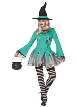 Disfraz de Bruja Parche para mujer para Halloween