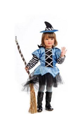 Costume da Strega blu e nero per bambina e bebé