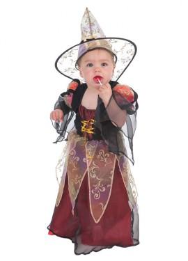 Disfraz de Brujita burdeos para bebé