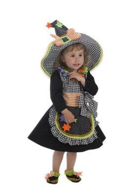 Disfraz de Brujita con Estrellas para bebé