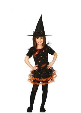 Disfraz de Brujita Estrellas para niña