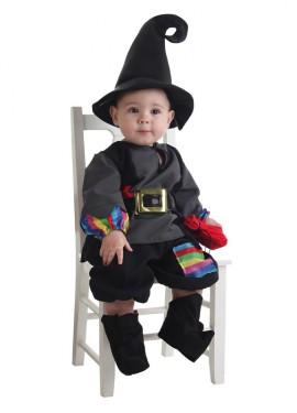 Disfraz de Brujo colorines para bebé