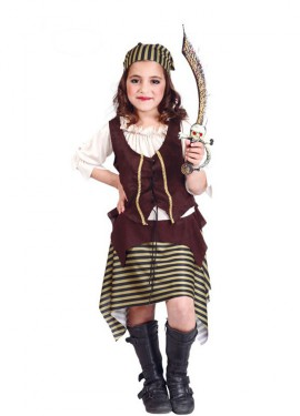Disfraz de Bucanera para niñas