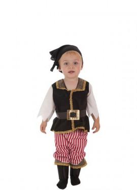 Disfraz de Bucanero a Rayas para bebé