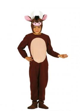 Disfraz de Buey marrón para niños