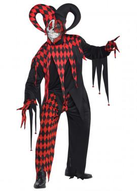 Disfraz de Bufón demente para hombres Halloween