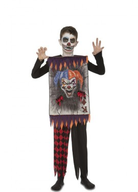 Disfraz de Bufón Joker con carta para niño