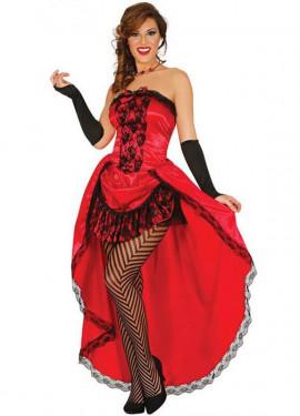 Disfraz de Burlesque Can-can rojo para mujer