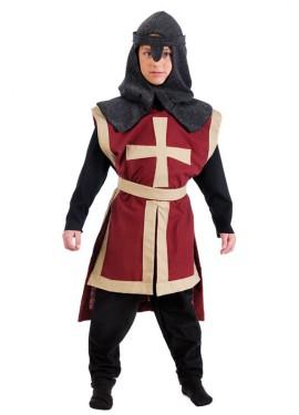 Disfraz de Caballero Cruzado Medieval para niño