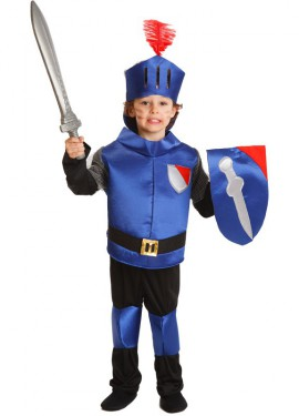 Disfraz de Caballero Feudal Azul para Niño de 3 a 5 años
