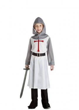Disfraz de Caballero Medieval Blanco para niño