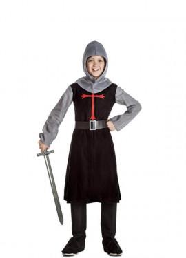 Disfraz de Caballero Medieval Negro para niño