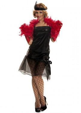 Disfraz de Cabaret negro para chica