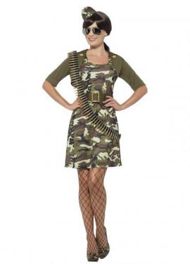 Disfraz de Cadete de Combate Militar para mujer