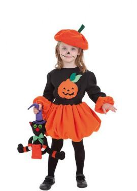 Disfraz de Calabacita de Halloween para niña