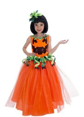 Costume da Zucca elegante per bambina