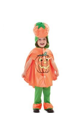 Déguisement de Citrouille Orange et Verte pour enfant