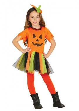 Disfraz de Calabaza Punk para niña