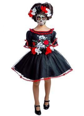 Disfraz de Calavera Catrina para niña