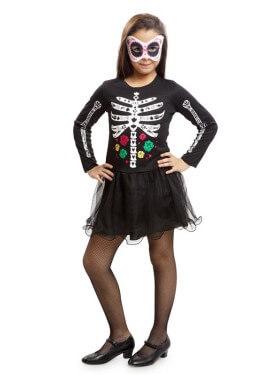 Disfraz de Calavera Dulce para niña