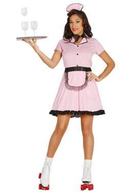 Disfraz de Camarera Patinadora para mujer