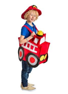 Disfraz de Camión de Bomberos para niños en talla única