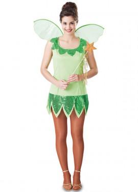 Disfraz de Campanilla con alas para mujer