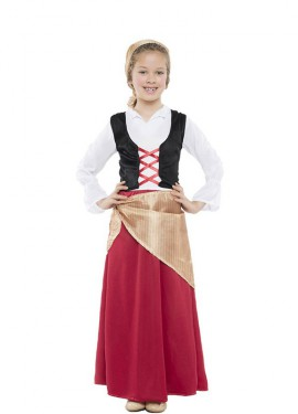 Disfraz de Campesina Belén para niña