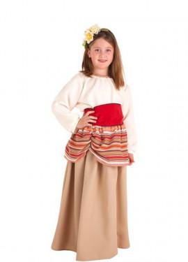 Costume Contadino medievale Carlota per bambina