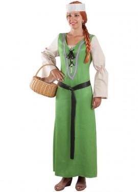 Costume contadino medievale per donna