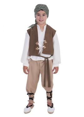 Disfraz de Campesino medieval para niño