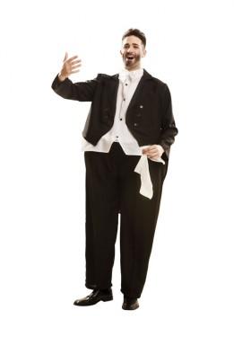 Disfraz de Pavarrotti cantante de ópera para hombre