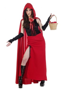 Disfraz de Caperucita Gótica para mujer
