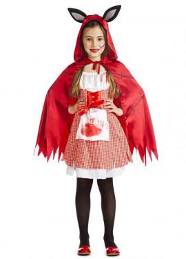 Disfraz de Caperucita Poseída para niña