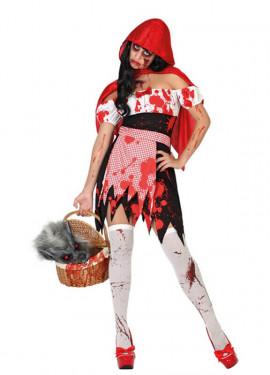 Déguisement Chaperon Rouge Ensanglanté pour femmes Halloween
