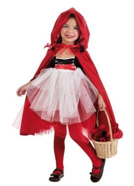 Disfraz de Caperucita tutú para niña