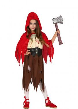 Déguisement de Petit Chaperon Rouge Zombie pour fille