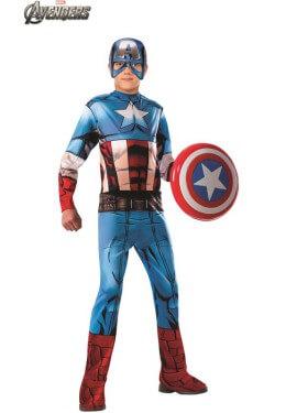 Costume del classico capitano d'america dei vendicatori per ragazzo