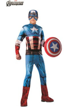 Disfraz de Capitán América Clásico de Los Vengadores para niño