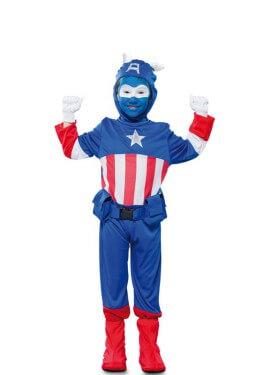 Déguisement de Capitain Amérique Bleu pour garçon