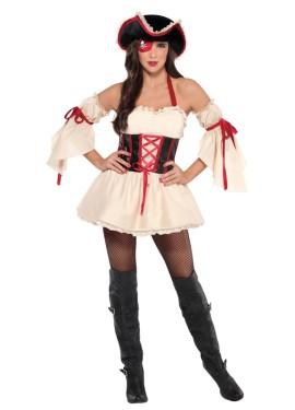 Disfraz de capitana pirata sexy para mujeres