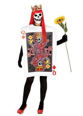 Disfraz de Carta de Reina de Corazones para mujer